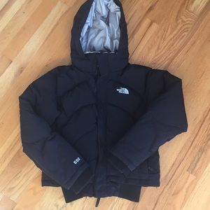 North Face 550 down ski coat with hood